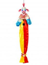 Clown maléfique animé suspendu Halloween 153 cm