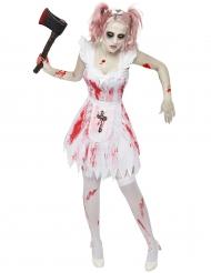 Déguisement demoiselle d'honneur zombie femme Halloween