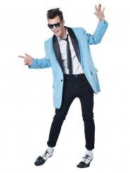 Déguisement rock star années 50 homme bleu
