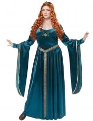 Déguisement princesse médiévale bleue grande taille femme