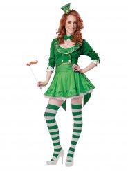 Déguisement Leprechaun porte bonheur femme Saint Patrick