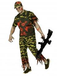 Déguisement soldat zombie Halloween camouflage homme