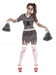 Déguisement zombie pom-pom girl Halloween femme
