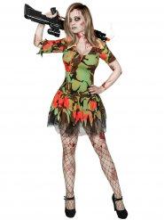 Déguisement militaire zombie femme Halloween