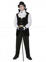 Déguisement Vampire gentleman Dracula noir-blanc Halloween