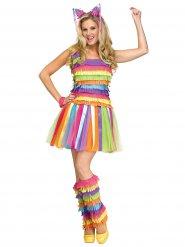 Costume piñata femme multicolore