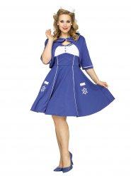 Costume marin années 50 grande taille femme