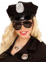 Lunettes noires d'aviateur ou policier adulte.