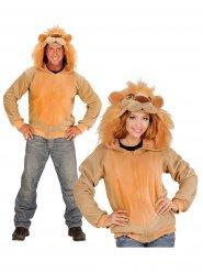 Veste à capuche lion adulte