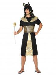 Déguisement pharaon égyptien homme noir doré