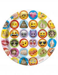 8 Assiettes en carton Emoji ™ 23cm