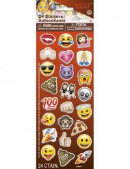 24 Stickers autocollants Emoji ™