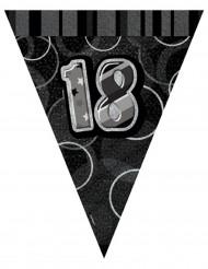 Guirlande fanions gris Age 18 ans 2,74 m