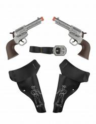 2 pistolets du Far-West avec étuis Enfant