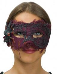 Loup tissu violet avec araignée femme Halloween