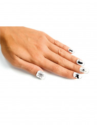 Faux ongles blancs adulte Halloween