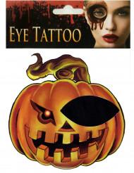 Tatouage pour œil citrouille adulte Halloween