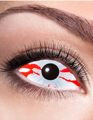Lentilles fantaisie sclera œil sanglant adulte Halloween