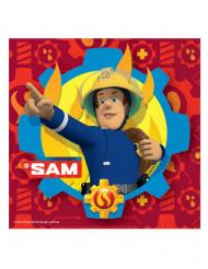 20 Serviettes en papier Sam le Pompier ™