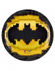 8 Assiettes en carton Lego Batman™ 23 cm