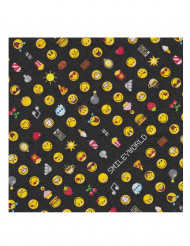 20 Serviettes en papier Smiley Emoticons™ 33 x 33 cm