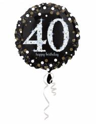 Ballon Aluminium Happy Birthday scintillant 40 - 45 cm