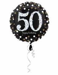 Ballon Aluminium Happy Birthday scintillant 50 - 45 cm