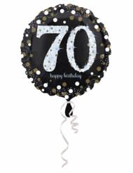 Ballon Aluminium Happy Birthday scintillant 70 - 45 cm