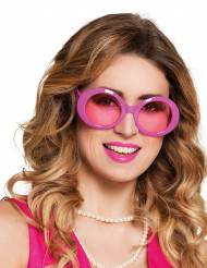 Lunettes disco roses adulte