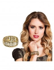 Bracelet métal et strass femme