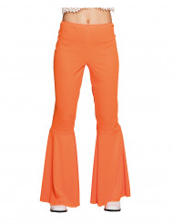Pantalon disco orange femme