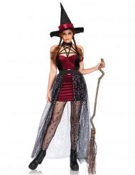 Déguisement sorcière céleste avec jupon amovible femme Halloween