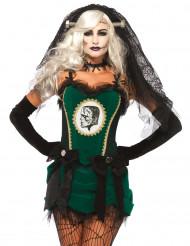 Déguisement mariée du monstre vert femme Halloween