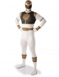 Déguisement seconde peau Power Rangers™ Blanc homme