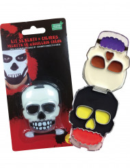 Kit de maquillage tête de mort adulte