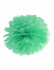 Pompon à suspendre en papier menthe claire 25 cm