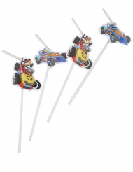 6 Pailles médaillon Mickey & Donald Racing ™