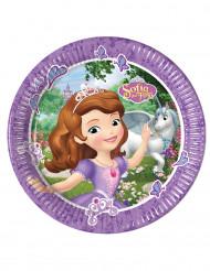 8 Assiettes en carton 23cm Princesse Sofia et la licorne ™