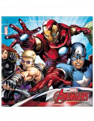 20 Serviettes en papier 33x33cm Avengers Mighty ™