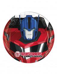 8 Petites assiettes en carton  20cm Transformers RID ™