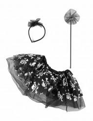 Tutu et accessoires squelette araignée bébé Halloween