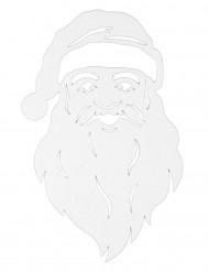 Décoration pour fenêtre visage du Père Noël 35 cm