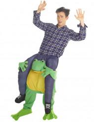 Déguisement Homme à dos de grenouille adulte