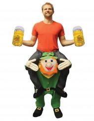 Déguisement homme à dos de leprechaun adulte Morphsuits™ Saint Patrick