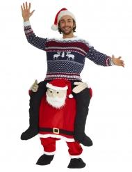 Déguisement homme à dos de Père Noël adulte