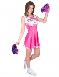 Déguisement pompom girl rose CHEERS femme