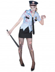 Déguisement policière zombie femme