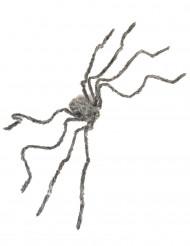 Araignée géante grise velue Halloween 160 cm