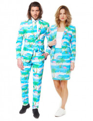 Déguisement de couple Opposuits™ Flamingo