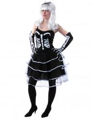 Déguisement princesse squelette femme Halloween